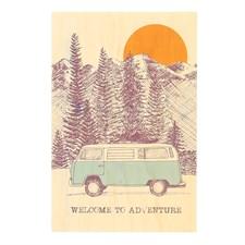 Carte en bois Van adventures