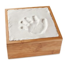 Boîte bambou pour empreintes de bébé