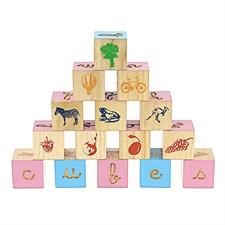 26 cubes lettres
