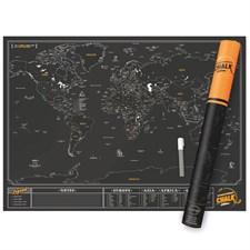 Carte du monde à gratter avec marqueur