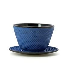 Tasse à thé et soucoupe en fonte Aozora