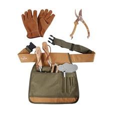 Kit du jardin ceinture sécateur gants