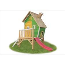 Petite cabane sur pilotis verte fantasia