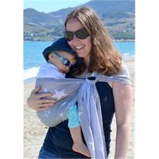 Porte-bébé sling sukkiri gris étoiles bl